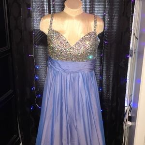 LaFemme Jeweled AB Gown Formal 14